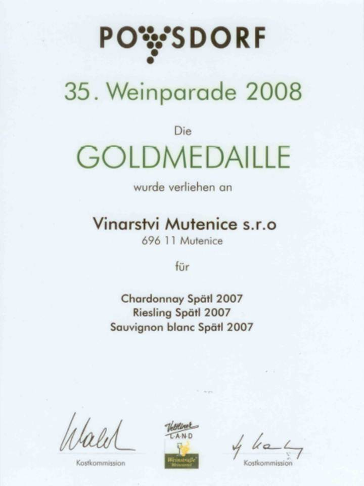 Medaile Weinparade